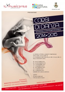 workshop intensivo  di danza  anno scolastico 2014-2015